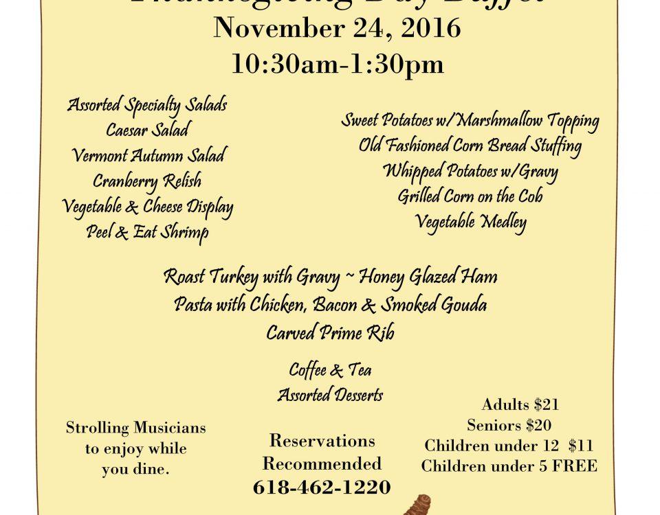 Thanksgiving Day Buffet - Thanksgiving Dinner