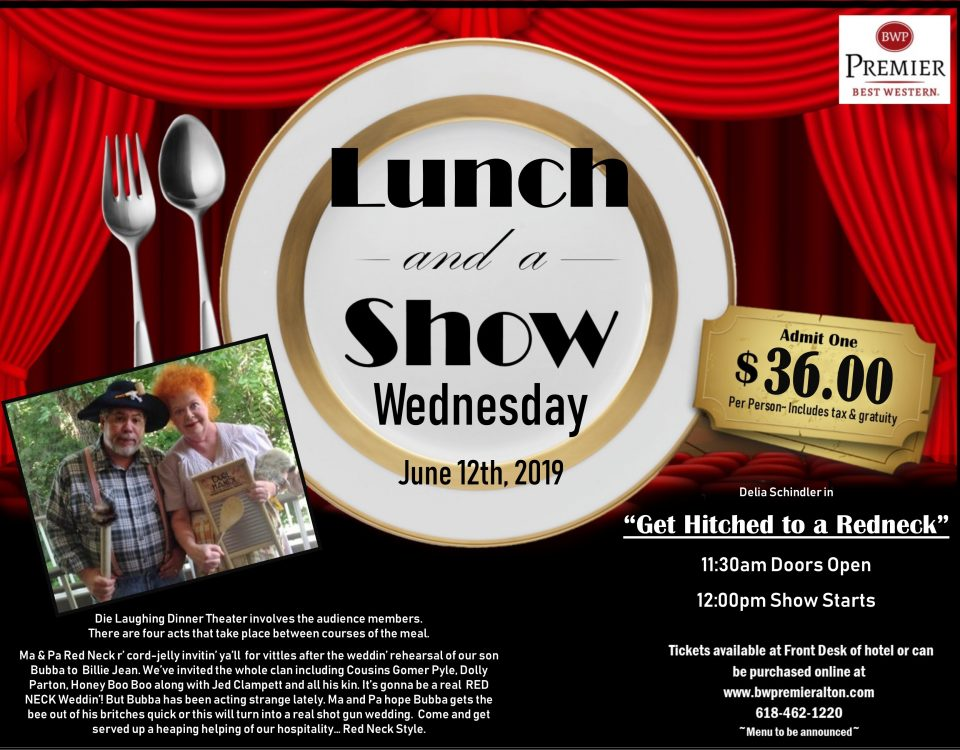 Dinner Theater, group events in alton il, group lunch, die laughing, comedy show