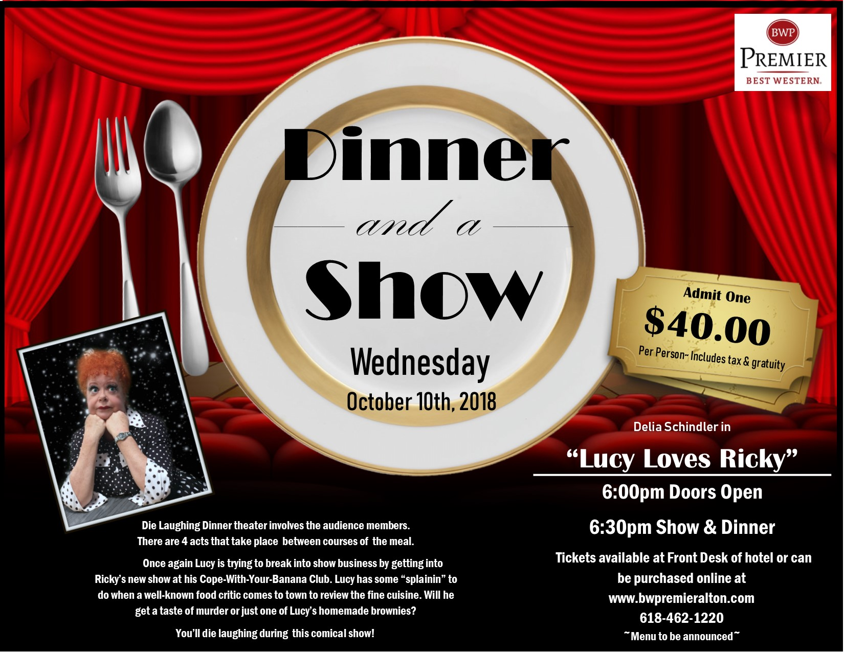 Dinner Theater, Mystery Dinner, Murder Mystery, Dinner Show, what to do in alton il