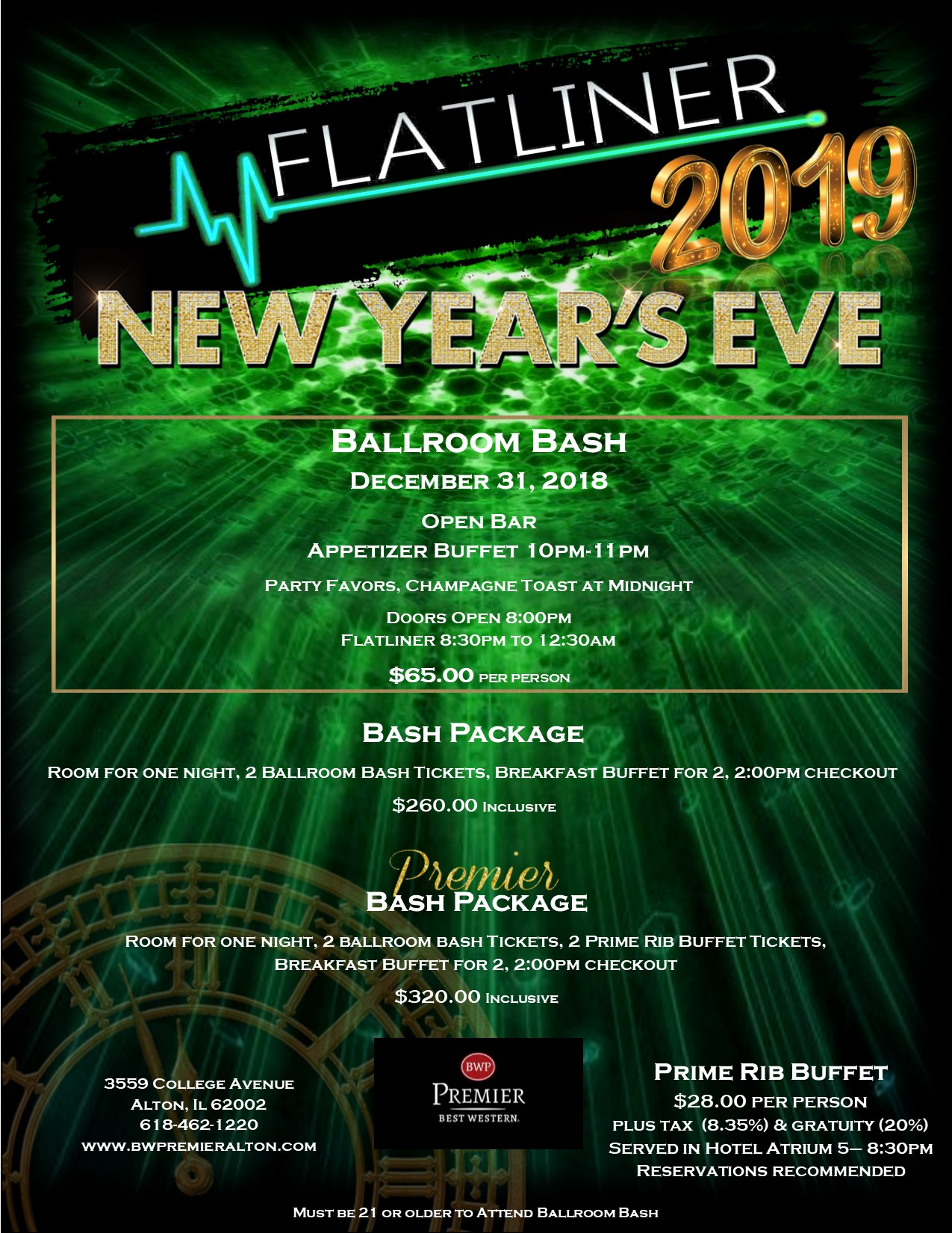 New Year's Eve, NYE Alton IL, New year's eve alton il, NYE 2019, New Year's Eve events near St. Louis, New Year's Eve Dinner, New Year's Eve show,