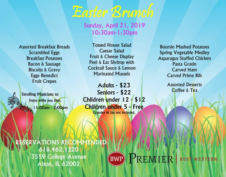 Easter Brunch, Easter Brunch in Alton IL, Easter Dining, Alton IL, Easter Events