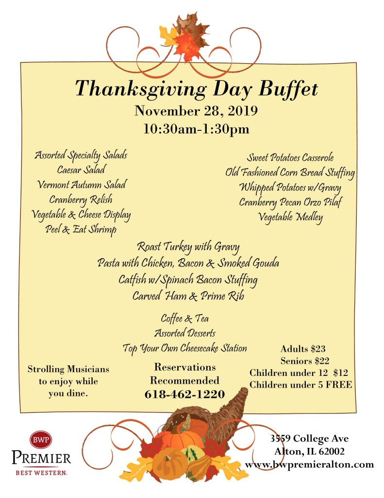 Thanksgiving Day, Thanksgiving Dinner, Holiday Meal, Thanksgiving Meals in Alton IL, Alton IL