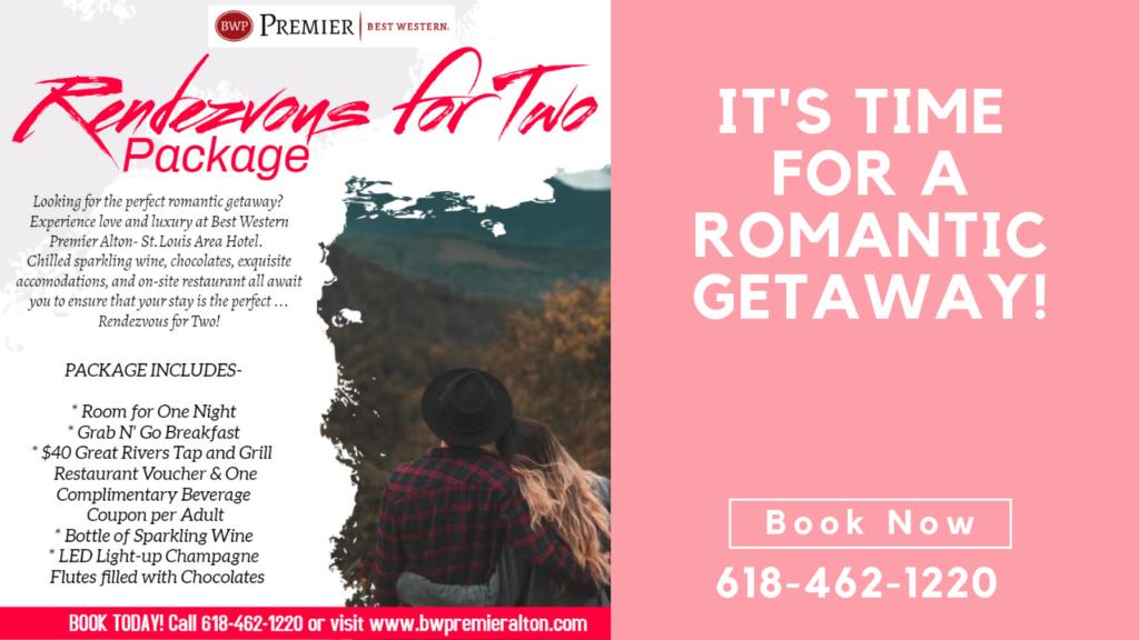 Valentine's Day, Alton illinois, romantic getaway