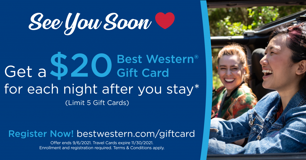 Join Best Western Rewards today and earn FREE Gift Cards!